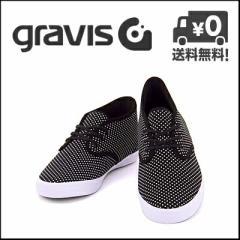 グラビス ローカット スニーカー メンズ クオーターズ GRAVIS 12860101 ブラック【バーゲン】