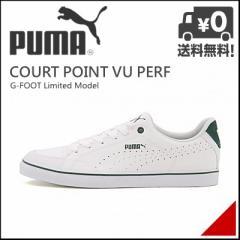 プーマ メンズ オールラウンド スニーカー コートポイント VU パーフ 限定モデル COURT POINT VU PERF PUMA 357593 ホワイト/ストーム