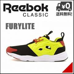 リーボック メンズ ハイテク スニーカー フューリーライト FURYLITE Reebok V66618 ブラック/ハイパーグリーン/レッドラッシュ/W