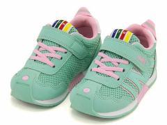 イフミー スニーカー 女の子 キッズ 子供靴 ストラップ 土踏まず形成 IFME 30-7015 グリーン