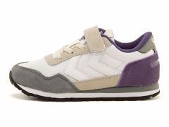 ヒュンメル 女の子 キッズ 子供靴 ランニングシューズ スニーカー リフレックス ジュニア REFLEX JR hummel 64046 ベイパーグレー