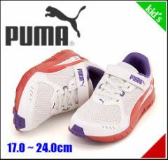 プーマ スピード モンスター 男の子 キッズ 子供靴 ランニングシューズ スニーカー SPEED MONSTER PUMA 359400 ホワイト/H