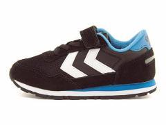 ヒュンメル 男の子 キッズ 子供靴 ランニングシューズ スニーカー リフレックス ジュニア REFLEX JR hummel 64046 ブラック