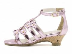 グラディエーター サンダル ウェッジソール 女の子 キッズ 子供靴 スイートジェリー 160003 ピンク【キッズバーゲン】