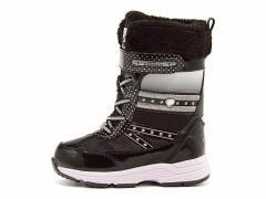 ウィンターブーツ スノーブーツ 女の子 キッズ 子供靴 レインブーツ スパイク付きチャーキーズ CHARKIES 2496 ブラック