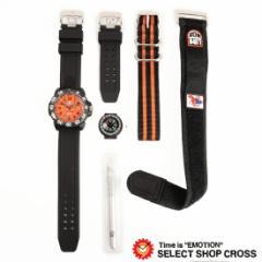ルミノックス 腕時計 COLORMARK SPECIAL SCOTT カラーマークスペシャル スコット キャセル限定セット 3059SET オレンジ