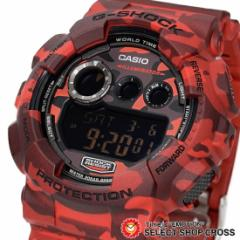 G-SHOCK CASIO カシオ Gショック メンズ 腕時計 デジタル GD-120CM-4DR レッド カモフラージュシリーズ 海外モデル