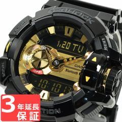 G-SHOCK CASIO カシオ Gショック メンズ 腕時計 Bluetooth アナデジ G'MIX ブラックXゴールド GBA-400-1A9DR 海外モデル