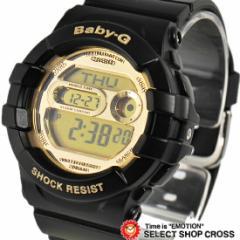 CASIO カシオ Baby-G ベビーG レディース 腕時計 デジタル グリッターダイアル BGD-141-1DR ブラック/ゴールド 海外モデル
