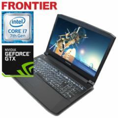 フロンティア ノートパソコン[Windows10 Core i7-7700HQ 4GB 500GB HDD GTX1050Ti] FRGN710G E1【新品】【FR】