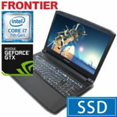 フロンティア ノートパソコン [Windows10 Core i7-7700HQ 4GB 275GB SSD  1TB HDD GTX1050Ti] FRGN710G E3【新品】【FR】