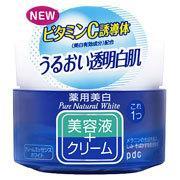 ピュアナチュラル クリームエッセンス ホワイト(100g) pdc ビタミンC誘導体 美容クリーム 美容液クリーム メラニンの生成 白肌