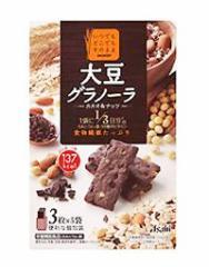 バランスアップ 大豆グラノーラ カカオ&ナッツ 150g(3枚×5袋) 食物繊維 鉄分 カルシウム 間食 小腹 おやつ ビスケット