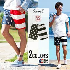 CavariA キャバリア 日本製 星条旗 ショーツ 全2色 ショートパンツ メンズ アメリカ 国旗 ハーフパンツ 国産 ビター trend_d 春 夏 新作