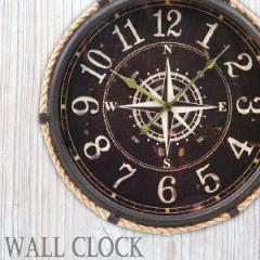 掛け時計 大きい / ウォールクロック コンパス 直径47cm 20718[FB]