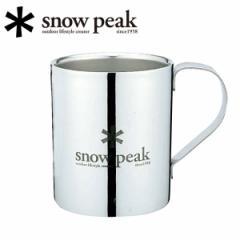 スノーピーク snowpeak マグカップ/スノーピークロゴダブルマグ 330/MG-113R 【SP-TLWR】