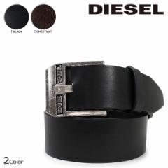 ディーゼル ベルト DIESEL メンズ レザーベルト 本革 牛革 ロゴ入り カジュアル BLUESTAR X03728 PR227 ブラック ブラウン 10/3 追加入荷