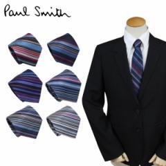 ポールスミス ネクタイ シルク メンズ Paul Smith ストライプ ギフト ケース付 イタリア製 ビジネス 結婚式 [10/11 追加入荷]