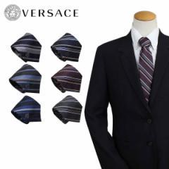 ベルサーチ ネクタイ シルク ヴェルサーチ VERSACE メンズ ギフト ケース付 イタリア製 ビジネス 結婚式 [12/12 追加入荷]