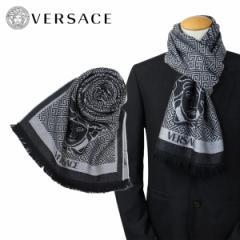 ベルサーチ マフラー ヴェルサーチ VERSACE メンズ ウール イタリア製 カジュアル ビジネス 0627