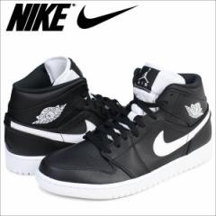 ナイキ NIKE エアジョーダン1 スニーカー AIR JORDAN 1 MID 554724-038 メンズ 靴 ブラック
