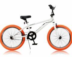 レイチェル Raychell 20インチBMXバイク自転車 BM-20R ホワイト/オレンジ