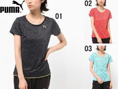 プーマ:【レディース】グラフィック SS TEE【PUMA スポーツ フィットネス Tシャツ アウトレット セール】