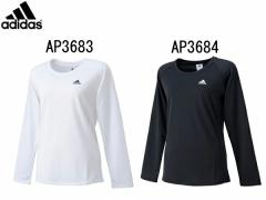 アディダス:【レディース】W 定番ワンポイント 長袖Tシャツ【adidas スポーツ フィットネス 長袖Tシャツ】