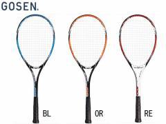ゴーセン:アクシエス100(ガット張り上げ済み)【GOSEN AXTHIES 100 テニス 軟式 ラケット】