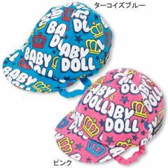 1/17一部再販★NEW♪あご紐付♪総柄BABYキャップ-帽子ベビーサイズベビードールBABYDOLL雑貨goods-6000
