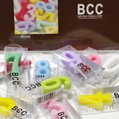 【DM便は送料100円!】BCCナンバーキャンドルパステル【誕生日】