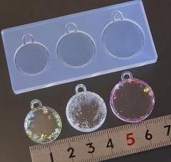 (S365) シリコンモールド ミール皿型  セッティング台座 サークル Mサイズ 3サイズ カン付き