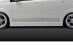 SilkBlaze シルクブレイズ エアロL150系ムーヴカスタム後期サイドステップ(未塗装)