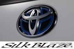 SilkBlaze シルクブレイズ【エスクァイア】トヨタヒートブルーエンブレムシートリア用/ブラックベース T58