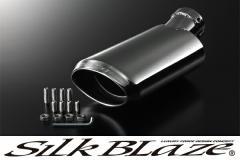 SilkBlaze シルクブレイズ 【30系プリウス L/S/G】 マフラーカッター [ユーロタイプ/シルバー]