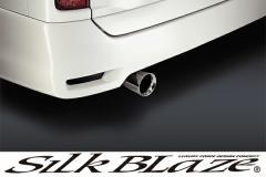 SilkBlaze シルクブレイズ 【E51エルグランド後期ハイウェイスター】 マフラーカッター [真円タイプΦ100/シルバー]