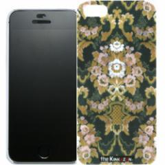 トラック男の【the Kinkazan】 iPhone5/5S ケース(フローラル/グリーン)