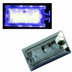 【LED3ハイパワーミニフラットマーカーランプNEO DC24V(クリア/ホワイト)】