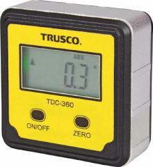 ▼【TRUSCO】TRUSCO デジタル水平傾斜計 デジキュービック TDC360[TRUSCO 測量器S工事用品測量用品勾配計]【TN】
