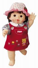やわらかお肌の女の子だもんぽぽちゃん くまさんジャンパースカート ピープル 着せ替え人形 ポポちゃん 知育玩具 ままごと 女の子