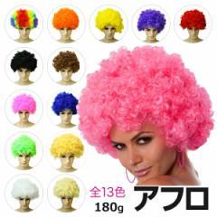 アフロ アフロヘア 毛量180g フリーサイズ 男女兼用 パーマ カール カーリーヘア ヘアー Afro hair かつら カツラ レインボー ウィッグ