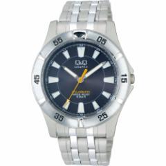 CITIZEN Q&Q メンズ腕時計 SOLARMATE ブラック H968-202 ソーラー電源 アナログ表示 5気圧防水[メール便発送、送料無料、代引不可]