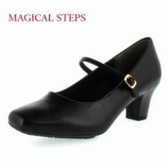 MAGICAL STEPS マジカルステップス 靴 5541 リクルート 冠婚葬祭 就活 就職活動 仕事 パンプス ブラック レディース 4E スクエアトゥ ス
