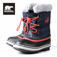 SOREL Yoot Pac Nylon NY1879 464 CollegiateNavySailRed ソレル ユートパックナイロン キッズ ブーツ 防水設計