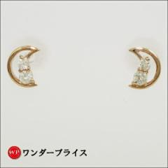 K10 10金 PG ピンクゴールド ピアス ダイヤ 0.05×2 【取寄後発送】