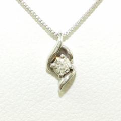 K18 18金 WG ホワイトゴールド ネックレス ダイヤ 0.05【取寄後発送】
