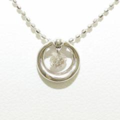 K18 18金 WG ホワイトゴールド ネックレス ダイヤ 0.10 中古ジュエリー