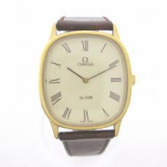 時計 オメガ デビル アンティーク メンズ 手巻き 白文字盤 Cal.625 稼働品【中古】