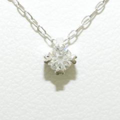 K18 18金 WG ホワイトゴールド ネックレス ダイヤ 0.1 中古ジュエリー