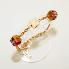 ルイヴィトン Louis Vuitton ブラスレ ギャンブル M66828 ゴールド ブレスレット 保存袋付き 小物【中古】